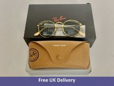 Ray-Ban Round Metal Sunglasses with Case, RB3447