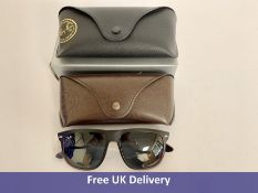 Ray-Ban Sunglasses RB4147, Matte Black with Shades Shell Ltd Case