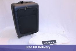 Away Suitcase with built in device charger, Blue, Used