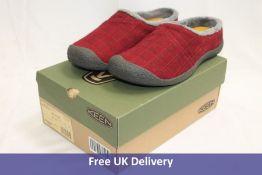 Keen Howser Wrap Slide Women's Slipper/Shoes, Red Felt/Plaid, UK 6