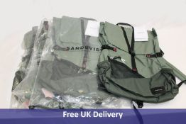 Five Sandqvist SQA1552 Kasper LW Multi Dusty Green/Night Green Backpack