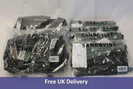 Four Sandqvist bags and Two Sandqvist Waist Bags