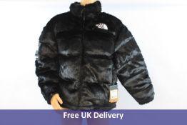 Supreme x The North Face Faux Fur Nuptse Jacket, Black, Size L