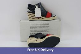 Tommy Hilfiger Women's Sporty Textile Mid Wedge Sandals, UK 3.5