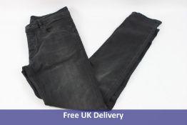 Hugo Boss Tapered-fit Jeans, Washed Black Denim, Waist 34, Leg 34