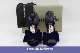 Custommade Marita Velvet Heels in 435 Royal Blue, Size 39