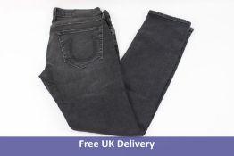 True Religion Rocco Jeans, Black Wash, Waist 32