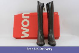 Wonders Boots with Square Heel, Brown , UK 5. Box is damaged