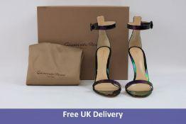 Gianvito Rossi Milano Women's Shoes, Iridescent Black, UK 6
