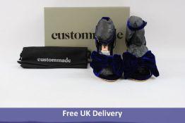 Custommade Marita Velvet Heels in 435 Royal Blue, Size 40