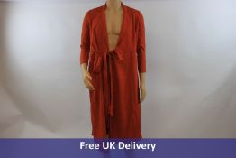 The Fold Avignon Dress, Burnt Orange, UK 6