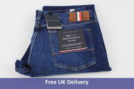 Tommy Hilfiger THFLEX Performance Denim Jeans, Crane Blue, Waist 38, Leg 34