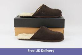 Ugg Men's Scuff Deco Suede Slippers, Brown, UK 10