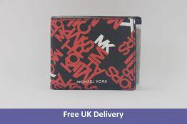 Michael Kors Cooper Billfold Wallet With Passcase, Crimson Black