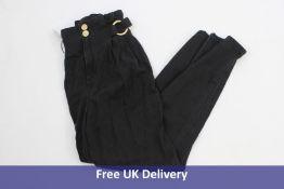 Pinko Women's Cara Fashion Jeans, Black, Waist 26