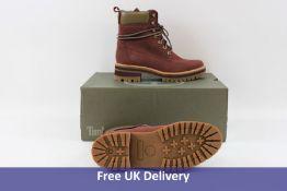 Timberland Women's Courmayeur Valley Boots, Burgundy, UK 5