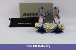 Custommade Marita Pearl Heels in 435 Royal Blue, Size 38