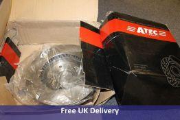 Brake Discs Pair, Front, Vented, part number 10604048 (ATP)