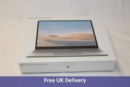 Microsoft Surface Laptop Go, 10th Gen Intel Core i5 processor, 128GB 8GB RAM, Platinum, UK Keyboard