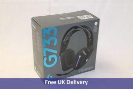 Logitech G733 Lightspeed Wireless RGB Gaming Headset, Black