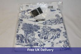 Moschino Printed Top, White/Blue, Part number D A0428, Colour 4001, Size 38