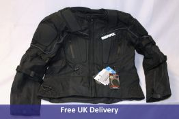 Four GearX Storm Apparels Motorbike Jackets, Black, Large
