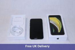 Apple iPhone SE 2020, 2nd Generation, Black, 64GB. Model number MHGP3QN/A. Remote management locked