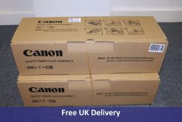 Two Canon Waste Toner Case Assembly, iR-ADV C5051/45/35/30 and 5255/50/40/35 series