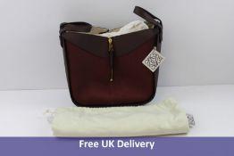 Loewe Women's Hammock Small Leather Bag, Burgundy