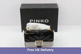 Pinko Gloss Mini Logo Bag, Black