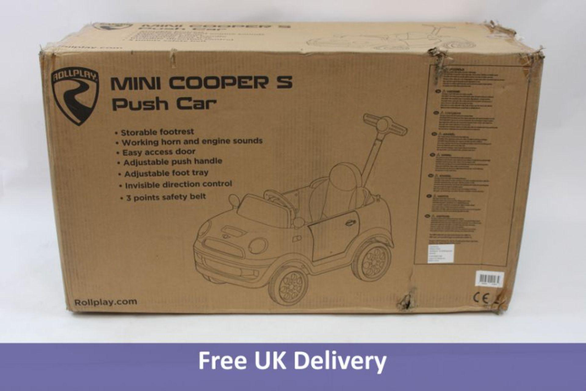 Children's Mini Cooper S Push Car, Yellow,10-48 Months
