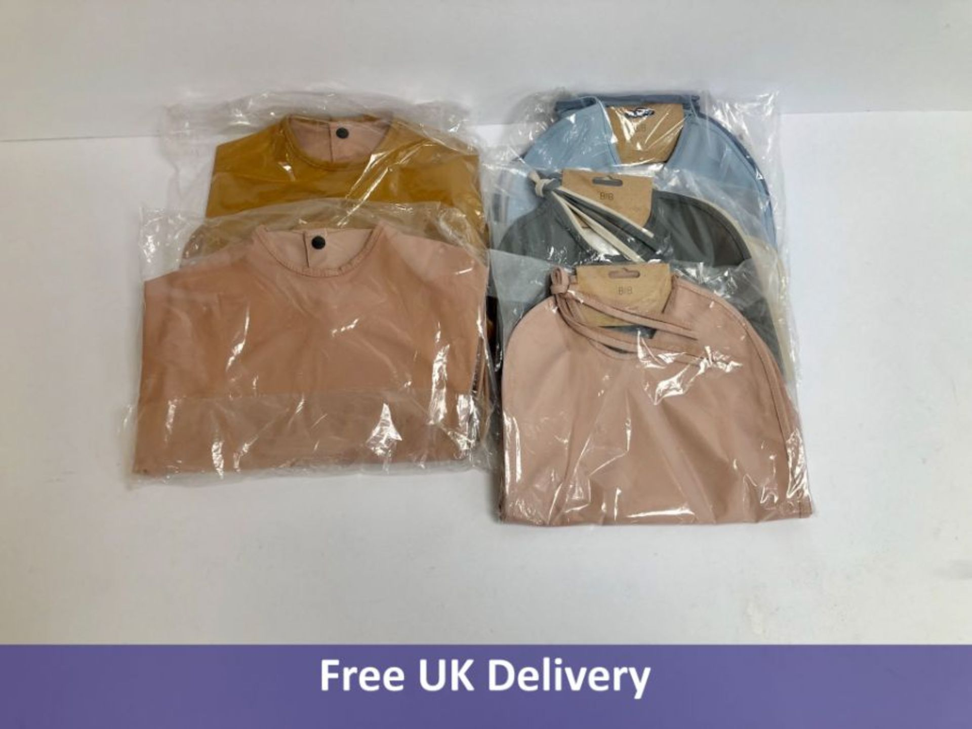 Five sets of Liewood Two Pack Recycled Baby Bibs