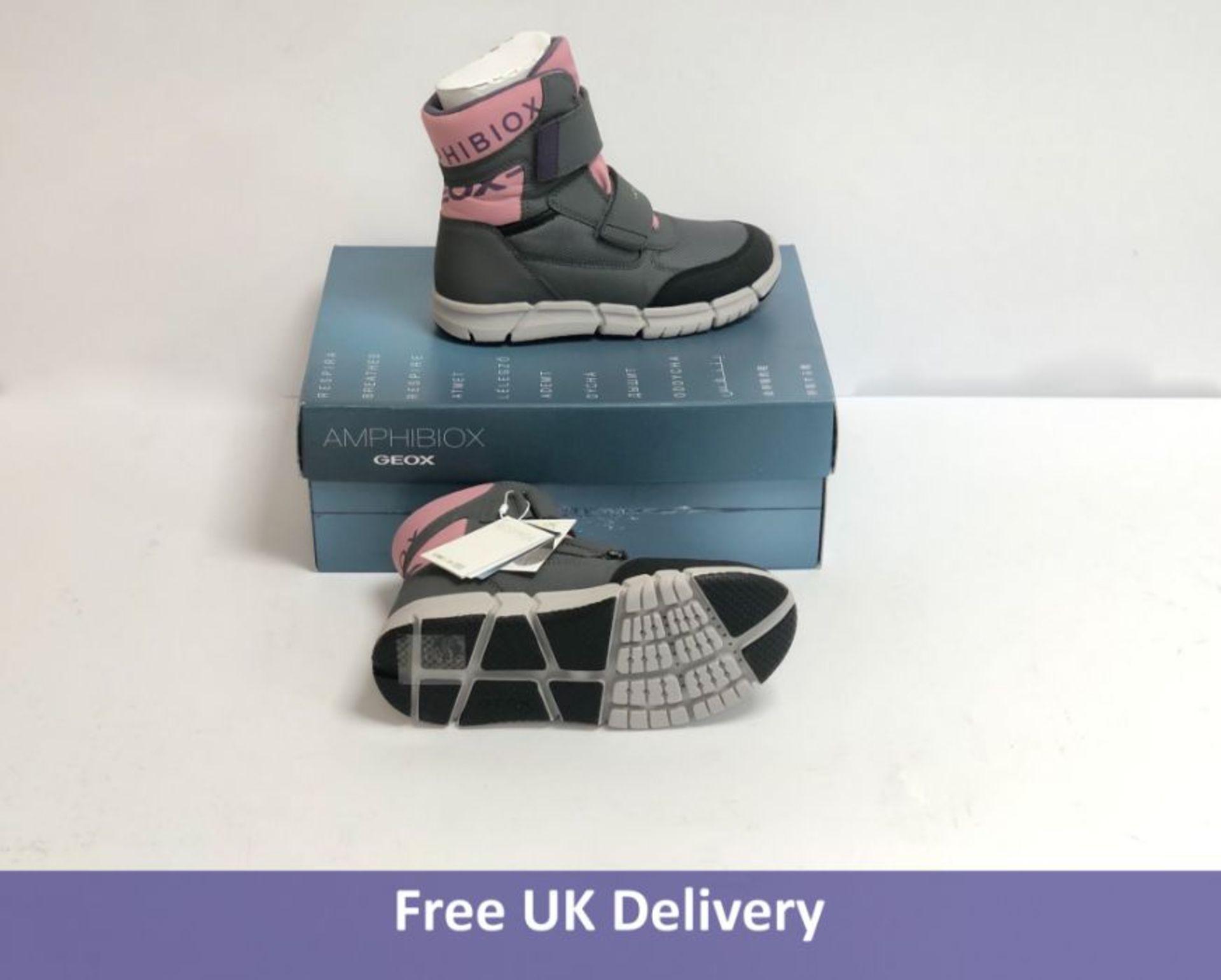 Geox Children's Flexper Snow Boots, Pink & Grey, UK 1