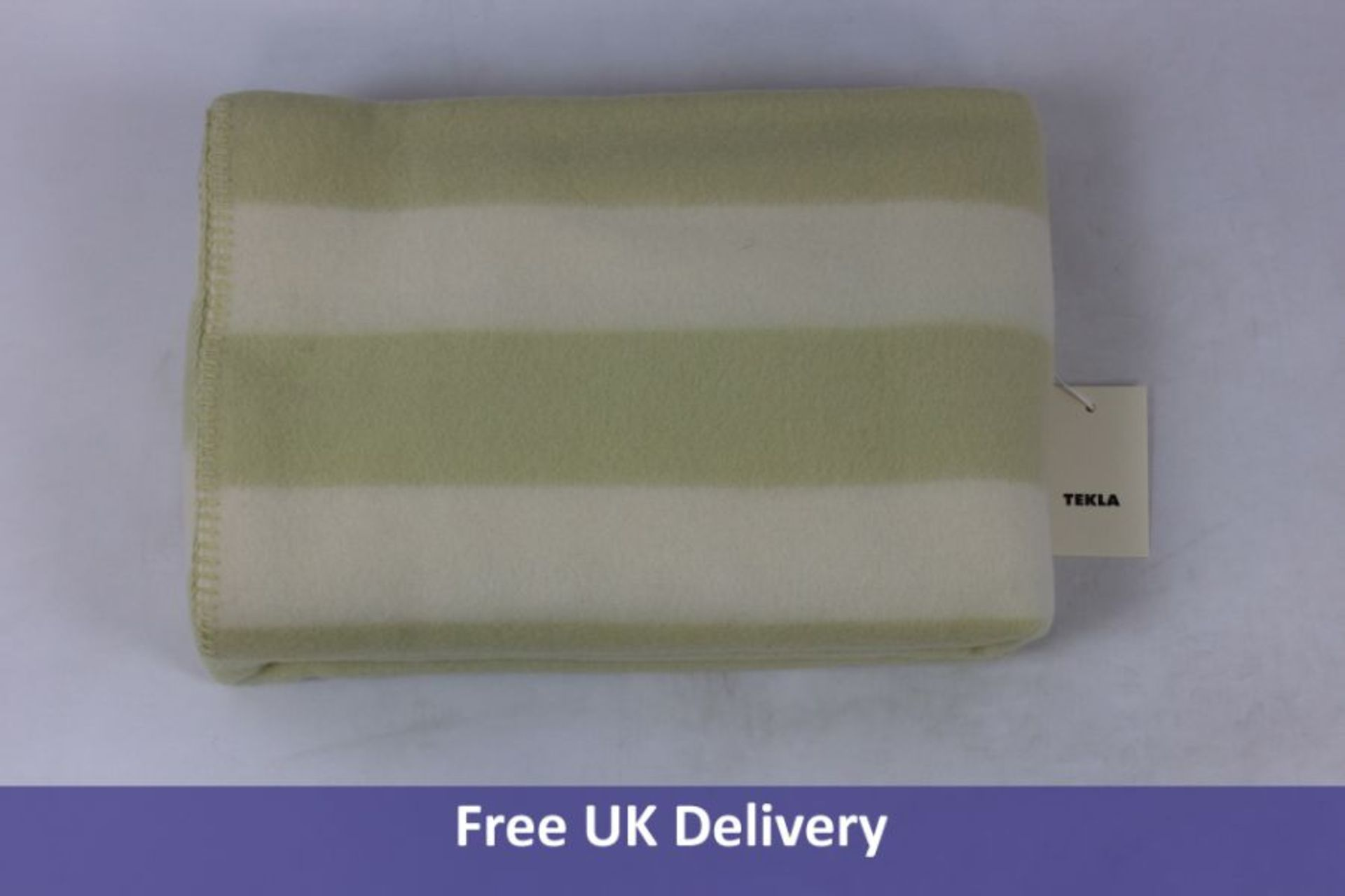 Tekla Pure New Wool Blanket, Yellow & White