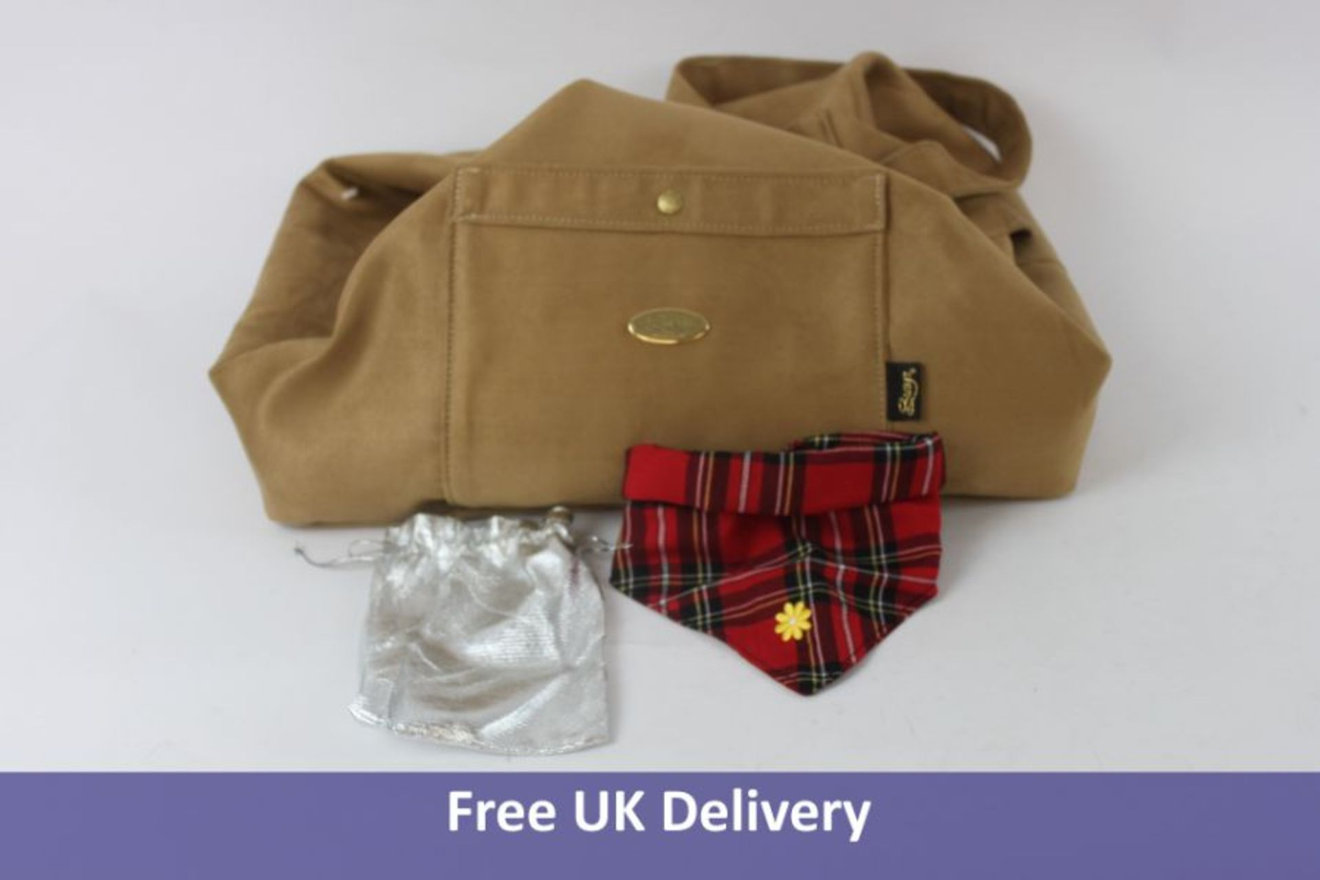 Suzy's Xuede Pick & Sleep Dog Carrier, Camel