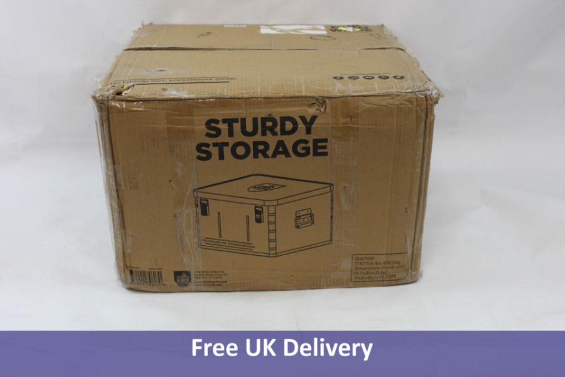 Otto's Storage Box, Silver, Size 13.5 x 22.5 x 20.5 cms