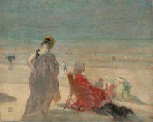 Hans Christiansen. Am Strand.