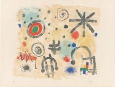 """Joan Miró. """"Signes et météores"""". 1958"""