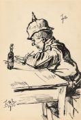 Ludwig Meidner. Schreibender Soldat am Tisch. 1916