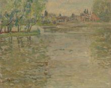 Max Clarenbach. Flusslandschaft. 1932