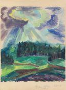 """Fritz Schaefler. """"Landschaft im Herbst""""."""