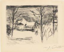 """Lovis Corinth. """"Winter am Walchensee"""". 1924"""