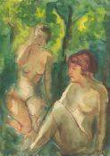 """Fritz Schaefler. """"Mädchen im Wald""""."""