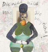 """Cornelia Schleime. """"Die nicht hält was sie verspricht!"""". 1993"""