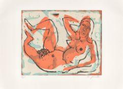 A.R. Penck. Liegender weiblicher Akt.