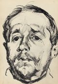Ludwig Meidner. Männerporträt. 1916/17