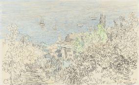 Paul Baum. Küstenlandschaft bei Capri. Um 1900