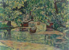 Erich Büttner. Tiergarten im Sommer (Brücke am Kleinen See). 1914