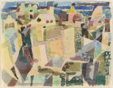 """Eduard Bargheer. """"Südliche Stadt 1"""". 1951"""