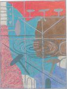 """Hans Kuhn. """"Saturnroter Himmel"""". 1971"""